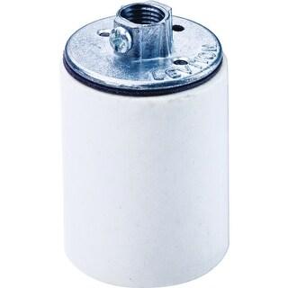 Leviton R40-10045-000 Porcelain Keyless Lampholder, 660Watt, White