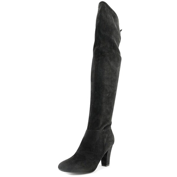 Call It Spring Qeiven Women Round Toe Suede Black Over the Knee Boot