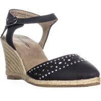 Rialto Constance Espadrilles Ankle Strap Sandals, Black - 5.5 us