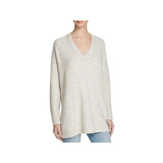 French Connection Womens V-Neck Sweater Oversized Long Sleeve