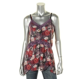 Free People Womens Sheer Adjustable Straps Cami - XS