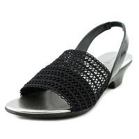 Karen Scott Elmann Women  Open-Toe Canvas Black Slingback Sandal
