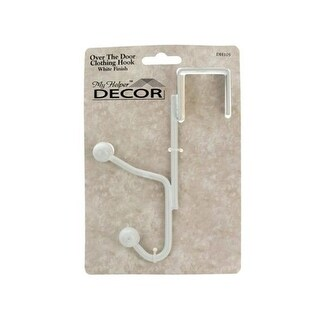 Kole Imports HH492-18 White Over The Door Clothing Hook - Pack of 18
