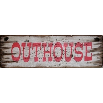 Cowboy Signs Wood Wall Hanging Western Rustic Outhouse White Red 6 X 19 Free Shipping On Orders Over 45 16643902