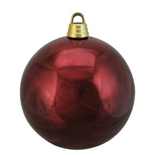 """Link to Shiny Burgundy Red Shatterproof Christmas Ball Ornament 12"""" (300mm) Similar Items in Christmas Decorations"""