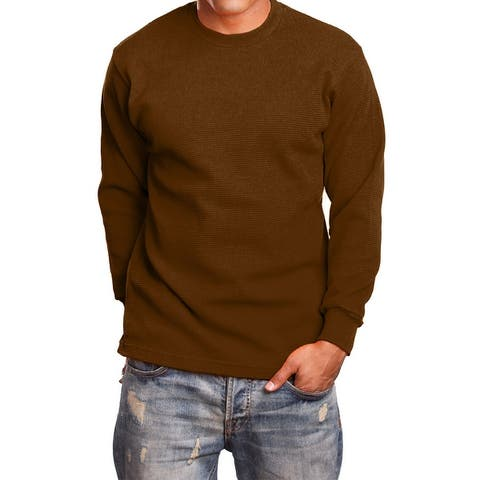 NE PEOPLE Mens Basic Lightweight Long Sleeve Crewneck Regular Fit Thermal Shirts Tops S-5XL