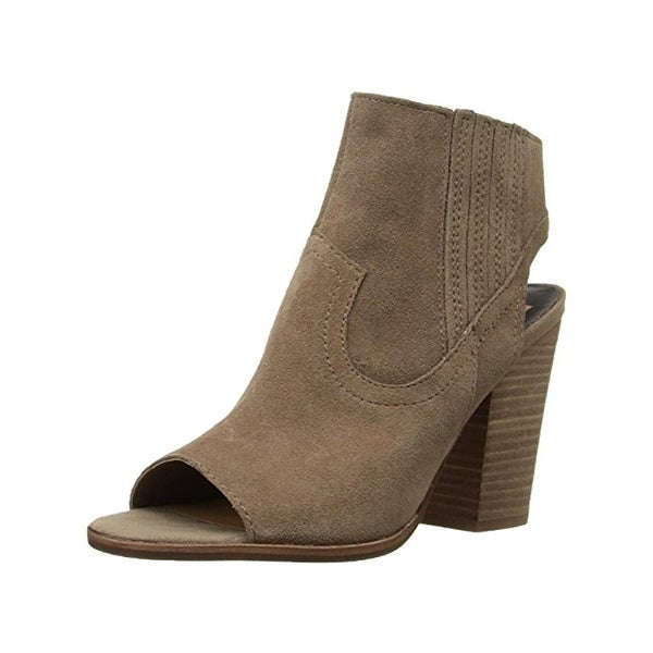 Dolce Vita Womens Pasha Ankle Boots Suede Open Toe