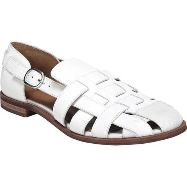 58cdca25f186d0 Sarto by Franco Sarto Women  x27 s Lulu Fisherman Sandal Bright White  Leather