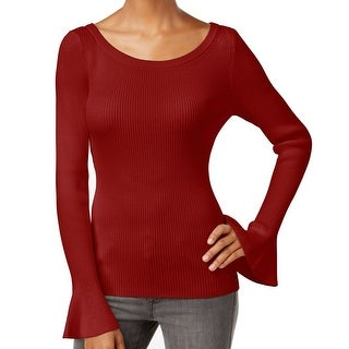 Michael Kors NEW Red Women Size Small S Bell Sleeve Scoop Neck Sweater
