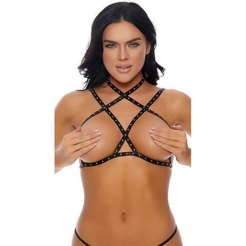 Cross My Stud Bra - One Size Fits Most