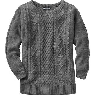 Legendary Whitetails Women's Fireside Charcoal Cable Knit Sweater - charcoal heather