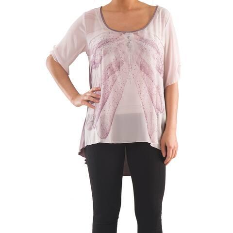 Versatile Top with Print - Sizes 14, 16, 18 & 20 - Plus Size Clothing - La Mouette Collections