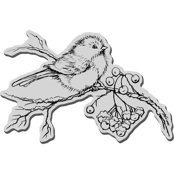"Stampendous Cling Stamp 4.75""X4.5""-Snow Bird"