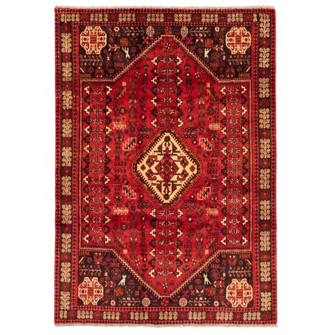 ECARPETGALLERY Hand-knotted Melis Red Wool Rug - 5'10 x 8'2