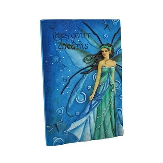 Jessica Galbreth `Live Your Dreams` Blue/Green Fairy Wall Plaque - Green