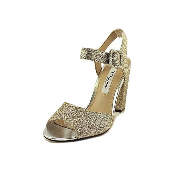 Nina Womens Shirley Evening Sandals Metallic Open Toe