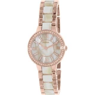Fossil Women's Virginia ES3716 Rose Gold Stainless-Steel Quartz Fashion Watch