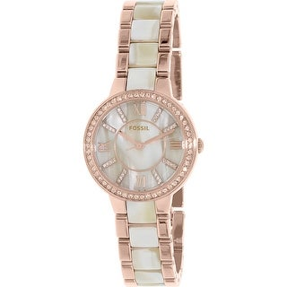 Fossil Women's Virginia Rose Gold Stainless-Steel Quartz Fashion Watch