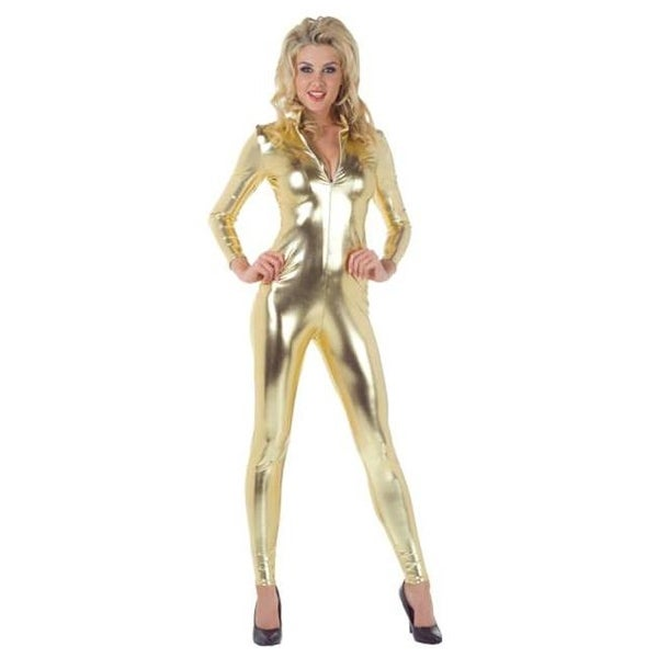 21522b28077 Shop Costumes For All Occasions UR29458GDLG Stretch Jumpsuit Gold Large - Free  Shipping On Orders Over  45 - Overstock.com - 22942423