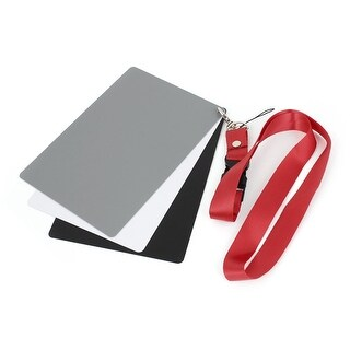 Photography Grey White Black Balance 3 in 1 Digital Gray Card for Camera