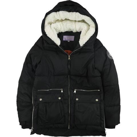 Steve Madden Womens Side Zip Coat, black, Small
