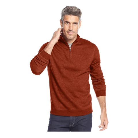 John Ashford Mens Quartr-Zip Sweatshirt