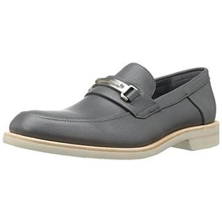 Calvin Klein Mens Yannie Leather Slip On Loafers - 7.5 medium (d)