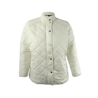 Lauren Ralph Lauren Women's Plus Size Long Sleeve Jacket - herbal milk