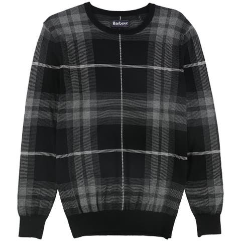 Barbour Mens Plaid Pullover Sweater