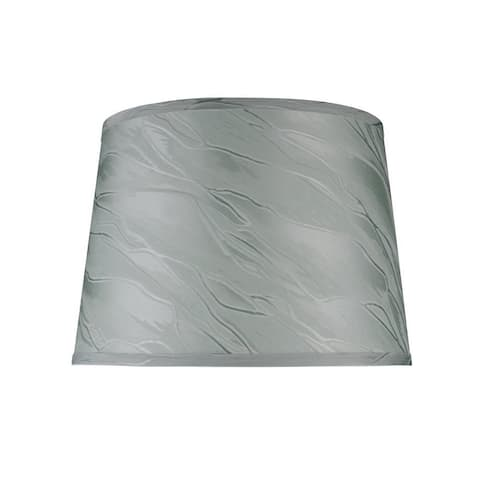 "Aspen Creative Hardback Empire Shape Spider Construction Lamp Shade in Greyish Green (12"" x 14"" x 10"")"