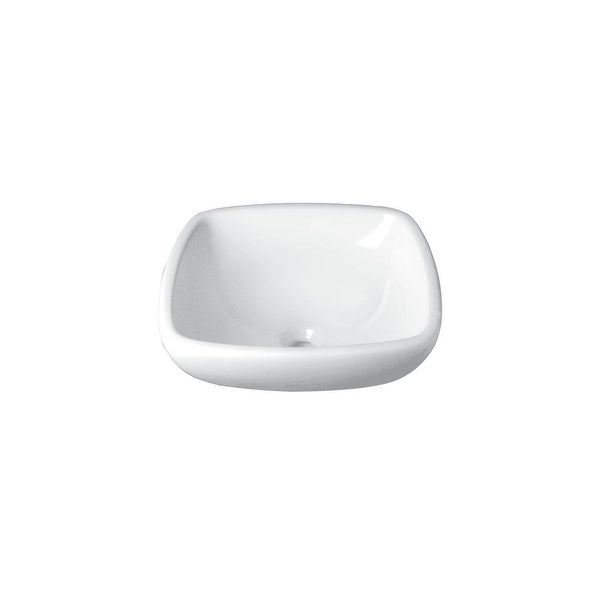 "DecoLav 1423 Amalie 17-3/8"" Above the Counter Bathroom Sink - White"