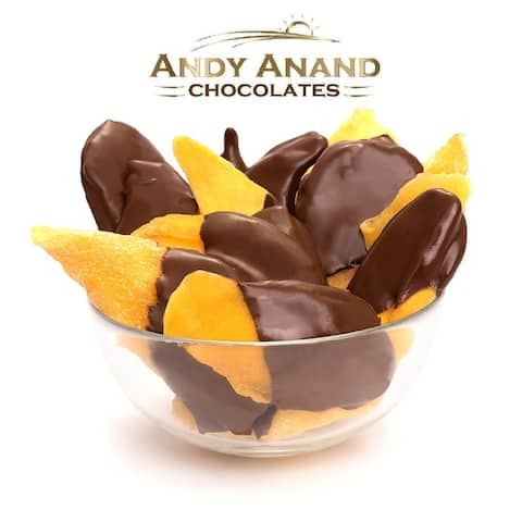 Andy Anand Belgian Chocolate Mango Slices Bridge 1 lbs