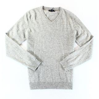 Club Room NEW Gray Mens Size Medium M V-Neck Cashmere Knit Sweater