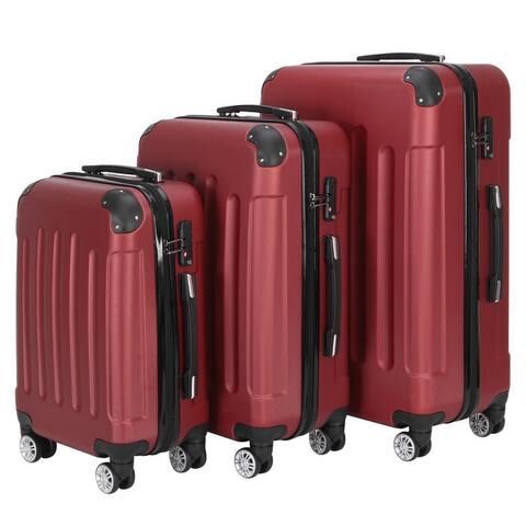 Large Capacity Traveling Storage Suitcase Trolley Case Luggage Set of 3