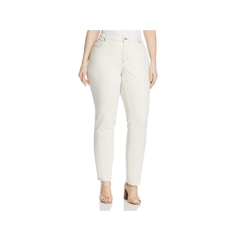 Eileen Fisher Womens Plus Skinny Jeans Organic Cotton High-Rise