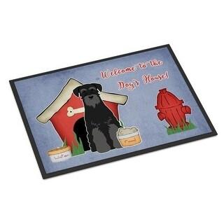 Carolines Treasures BB2786JMAT Dog House Collection Standard Schnauzer Black Indoor or Outdoor Mat 24 x 0.25 x 36 in.