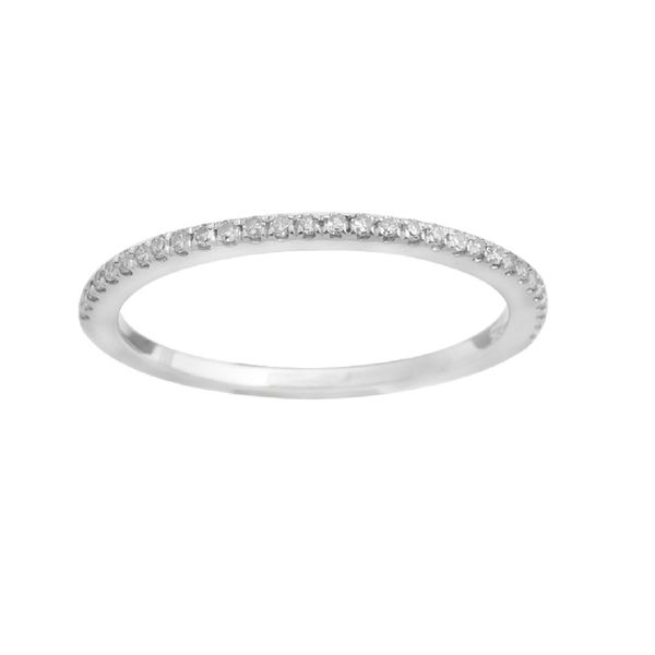 Prism Jewel 1.55mm 0.15Ct Round Natural Diamond Stackble Ring