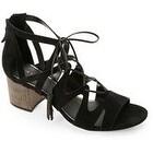 Elie Tahari Burano Black Suede Tasseled Sandals