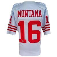 Joe Montana Signed Custom White Pro-Style Football Jersey JSA