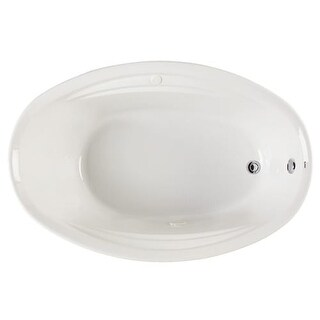 "Mirabelle MIRGAA6042V Galatia 60"" X 42"" Drop-In Air Bath Tub with Reversible Drain"