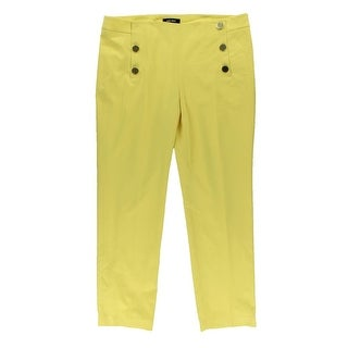 Nine West Womens Solid Flat Front Sailor Pants