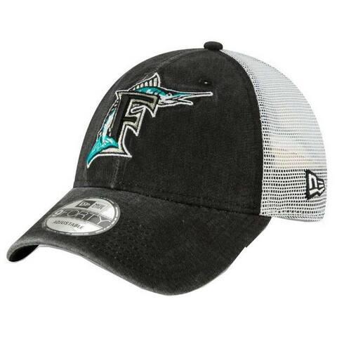 e506dfb3 New Era 2019 MLB Florida Marlins Baseball Cap Hat 1993 Cooperstown Truck  Mesh