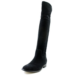 Michael Michael Kors Regina Flat Boot Women  Round Toe Suede  Knee High Boot