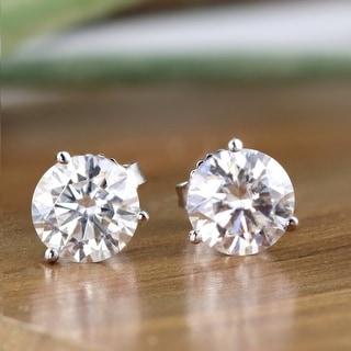 Link to Auriya Platinum 2ctw Round Moissanite Stud Earrings Martini-set - 6.5 mm, Screw-Backs - 6.5 mm, Screw-Backs Similar Items in Earrings
