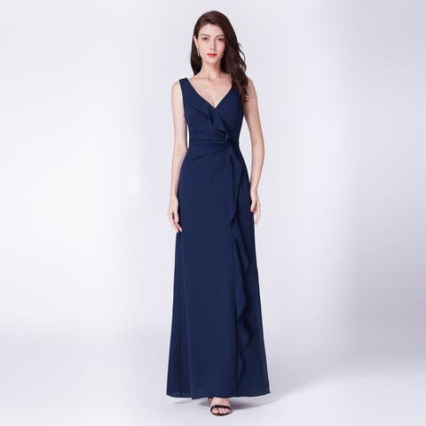 Ever-Pretty Womens Ruffles Chiffon Formal Evening Party Prom Bridesmaid Dress 07372