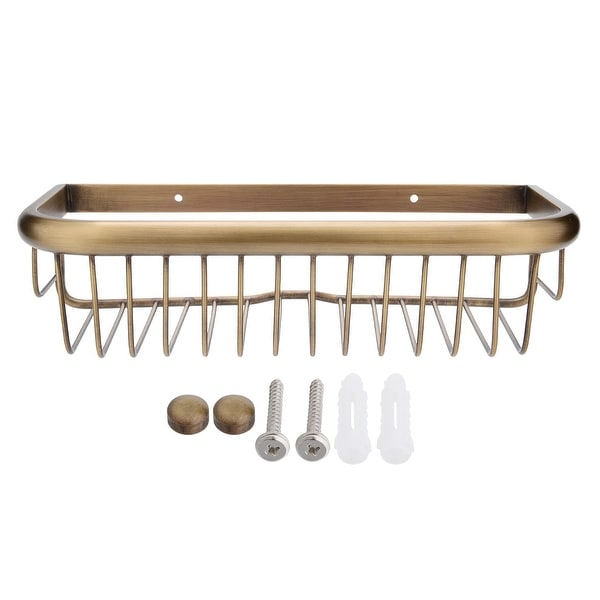 Shop 12-inch Length Brass Rectangle Shape Bathroom Shower Caddy ...