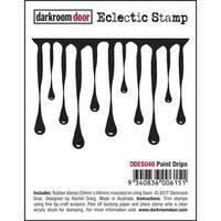 """Darkroom Door Cling Stamp 3""""X2""""-Paint Drips"""