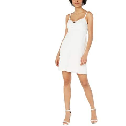Betsey Johnson Womens Betsey Bow Party Dress Sleeveless Sweethart - Vanilla Frosting