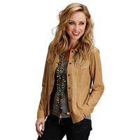 Stetson Western Jacket Womens Suede Shirt Vented