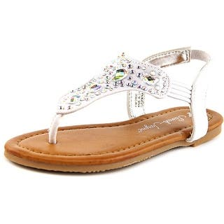 Sarah Jayne Cleopatra Toddler Open-Toe Canvas White Slingback Sandal|https://ak1.ostkcdn.com/images/products/is/images/direct/6829dcecfd1626fe2699ed8278ad5cc8c5aa89de/Sarah-Jayne-Cleopatra-Toddler-Open-Toe-Canvas-White-Slingback-Sandal.jpg?impolicy=medium
